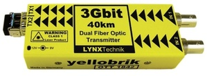 YELLOBRIC [OTT 1842] 옐로브릭 듀얼 3Gbit SDI to Fiber Optic Transmitter-(CWCM)